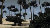 Brachytrachelopan dinosaur — Stock Photo