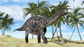 Dicraeosaurus on walk — Stock Photo