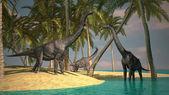 腕龙恐龙 — 图库照片