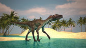 Ancient utahraptor — Stock Photo