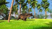 Brown Einiosaurus — Stock Photo