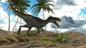Monolophosaurus dinosaur — Stockfoto