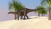 Dicraeosaurus on walk — Stock Photo
