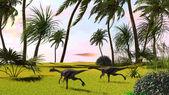 Porównanie dinozaurów — Zdjęcie stockowe