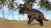 Brown Einiosaurus dinosaur — Stock Photo