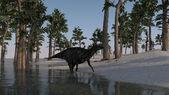 Shuangmiaosaurus dinosaur — Stock Photo
