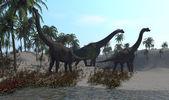 Brachiosaurus dinosaurs — Stock Photo