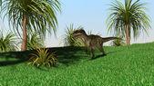 Monolophosaurus dinosaur — ストック写真