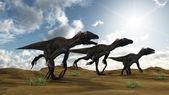 Utahraptor dinosaurs — ストック写真