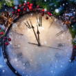 Christmas Eve and New Years at midnight — Stock Photo