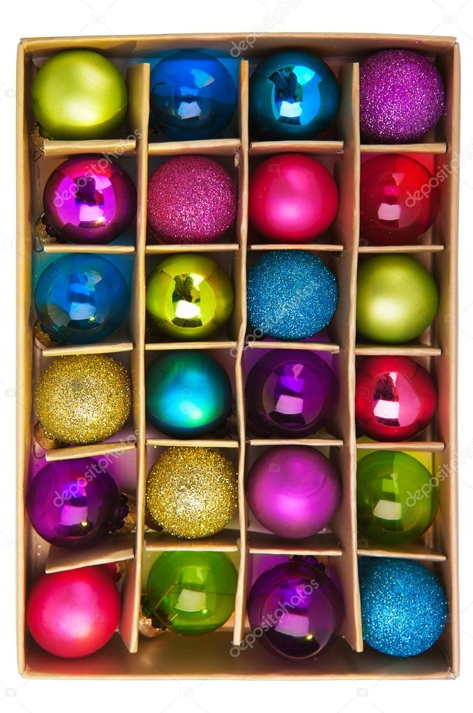 Set of colored Christmas decorations — Stock Photo #14692421