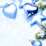 Art vintage christmas decoration on blue background — Stock Photo