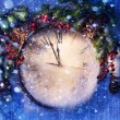Art Christmas Eve and New Years at midnight — Stock Photo #16507529