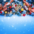 Stock Photo: Art a blue Christmas greeting card