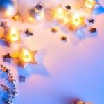 konst blå jul dekoration magiska ljus bakgrund — Stockfoto