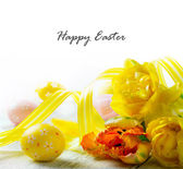 Happy easter decoration — Stock fotografie