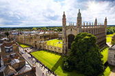 Art Cambridge University and Kings College Chapel — Stock Photo