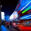 Art London night city traffic — Stock Photo