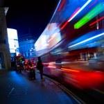 Art London night city traffic — Stock Photo