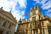 Art Cambridge University and Kings College Chapel — Stock Photo
