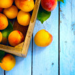 Stock Photo: Art abstract market background fruits on a wooden background