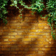 Art Tree in pot with brick wall background — Stock Photo #29099327