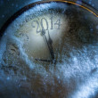 Art Christmas and New years clock 2014  — Stock Photo