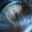 Art Christmas and New years clock 2014 — Stock Photo #32601043
