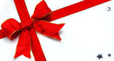 Sztuka Bożego Narodzenia ozdoba czerwona kokarda — Zdjęcie stockowe