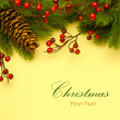 Stock Photo: Art Christmas retro greeting card