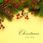 Art Christmas retro greeting card — Stock Photo