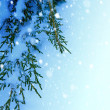 Art Christmas tree on snow  background — Stock Photo