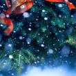 Art christmas tree background — Stock Photo