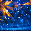 Art Christmas Lights on blue background — Stockfoto