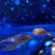 Art Blue Christmas  greeting card   — Lizenzfreies Foto