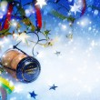 Art Christmas and New year party background — Foto Stock