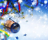 Art Christmas and New year party background — Stock Photo