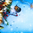Art Christmas and New year party backgrounds — Stock Photo
