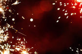 Art magic Christmas firework light background — Stock Photo