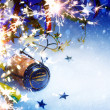 Art Christmas and New year party background — Stockfoto