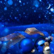 Art Blue Christmas  greeting card   — Stockfoto