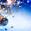 Art Christmas and 2014 New year party background — Stock Photo