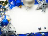 Art Christmas greeting card — Stock Photo