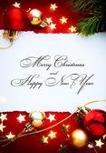 Art christmas holidays frame — Foto de Stock