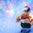 Art funny Snowman Christmas card  — Stock Photo