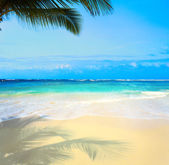 Art  beautiful untouched tropical sea beach — Stock Photo