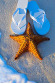 Art Summer holidays sea beach  background — Foto de Stock
