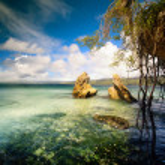 Art beautifu seaside view background — Stock Photo #42480721
