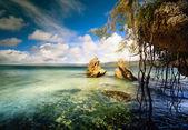 Sahil görünümü arka beautifu sanat — Stok fotoğraf