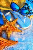Art Summer holidays sea beach  background — Stock Photo
